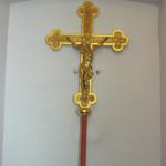 A biai Szent Anna katolikus egyházközség restaurált körmeneti keresztje