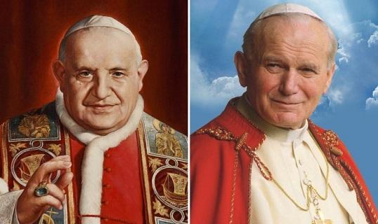 XXIII. János pápa ás II. János Pál pápa