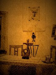 Oltáriszentség a Gizella Otthon kápolnájában