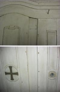 A biai Szent Anna Katolikus Egyházközség felújításra váróm régi sekrestyeszekrénye