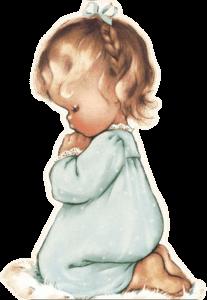 imádkozó gyermek